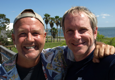 Photo of Marty Rathbun and Steve Hall near Texas coast