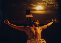 Photo of Steve Hall as Jesus, used in a book